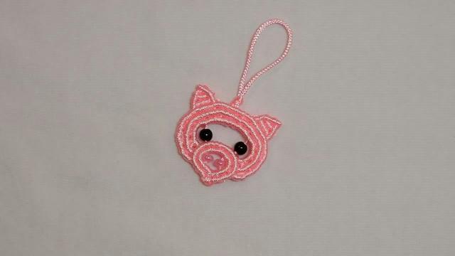「DIY编织系列」粉色小猪挂件的绳编方法(步骤2-1)