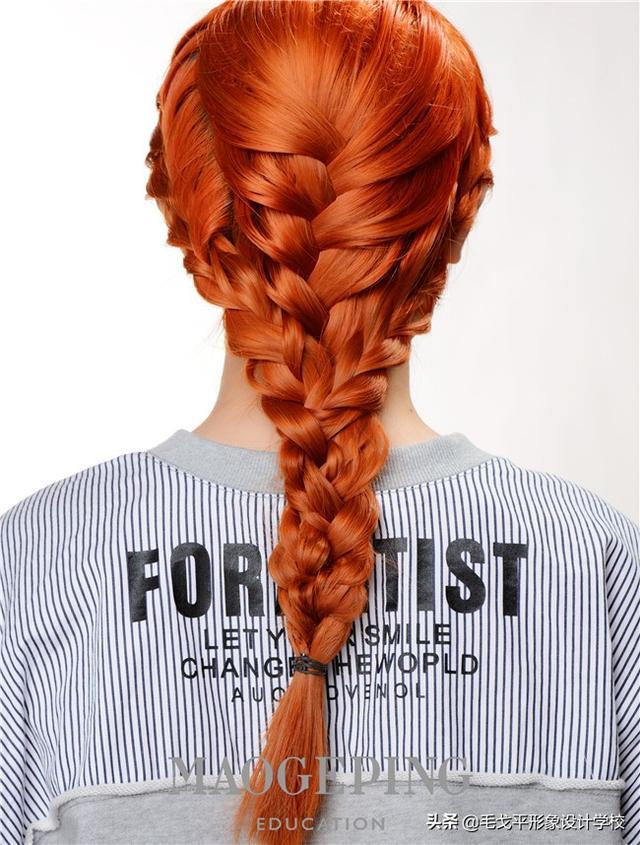 简单又实用的个性蝎子辫盘发
