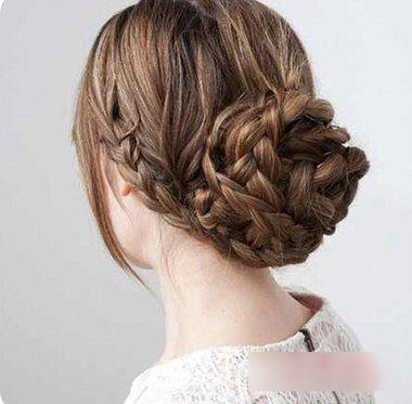 10款鱼骨辫编发马尾盘发的辫法发型!