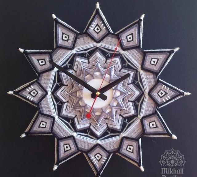 精美印第安上帝之眼,几根彩线就能做,绕线手工曼陀罗挂饰附教程