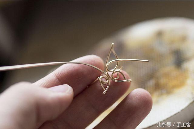 绕线教程 一学就会的绕线开口蝴蝶戒指!