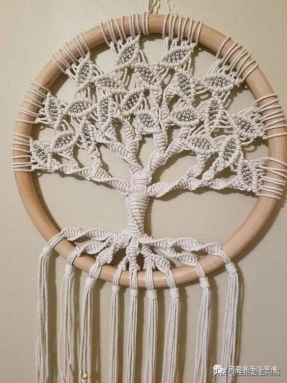 绳子只会用来编手链?试下编绳生命树,最美的编绳挂件,附教程