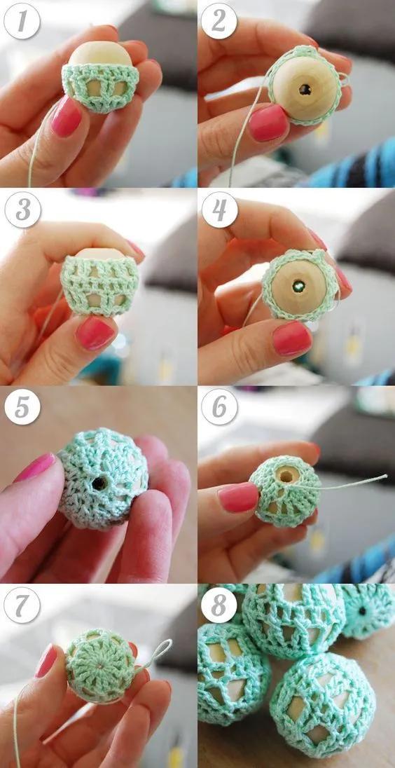 项链这类小饰品,你尝试过用毛线编织吗?钩织编织附图解教程