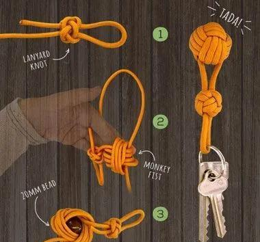 一根粗绳就能编的小挂件,简单又实用,还有多少人会呢?附教程