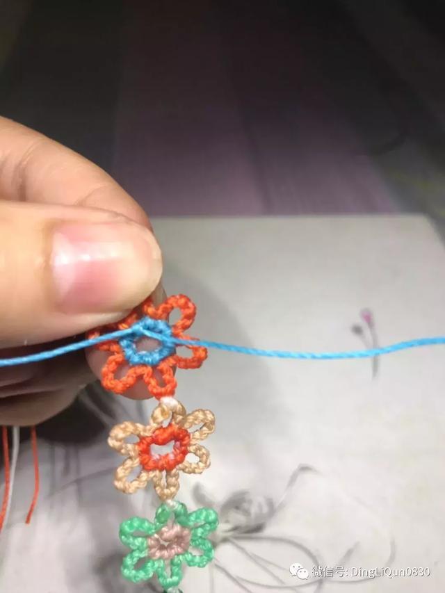 「编绳教程」实用的简单多功能小花、狗狗牵引绳的制作