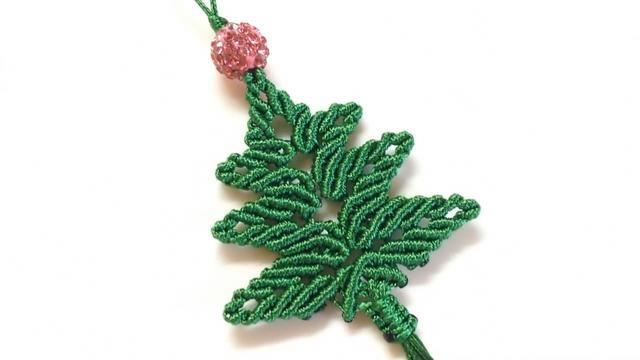 手工绳编圣诞树挂件的方法,难度3颗星,非常漂亮(图解2-1)