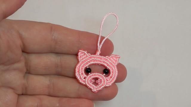 手工绳编系列,带你学习如何编织可爱的小猪挂件(图解2-1)