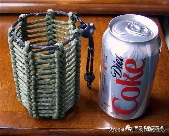 编绳杯套、瓶套,实用又好看,附编绳教程