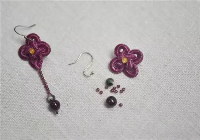 「编织技巧」唯美中国风编织耳环,古典雍容!