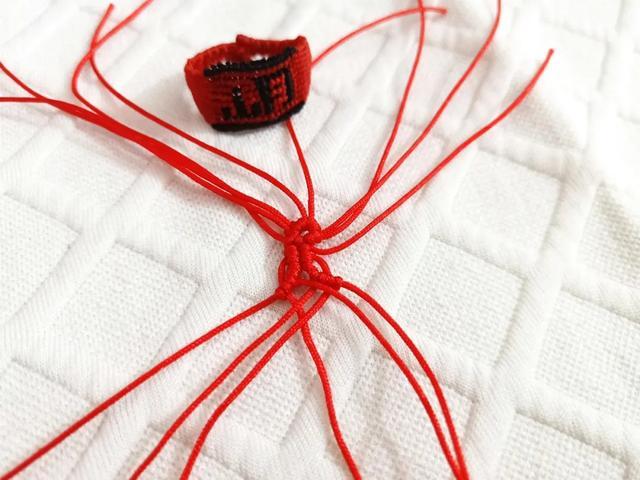 中国风桃花结耳坠,与古风汉服也搭配,DIY手工编绳附教程