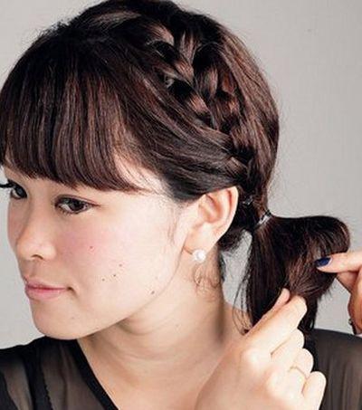 2款好看的长发蝎子辫发型,让你显得更加淑女的编发发型!