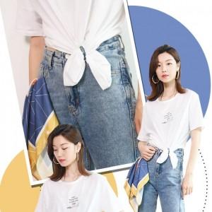学会了T恤的这8种打结穿法,让你时髦还显瘦