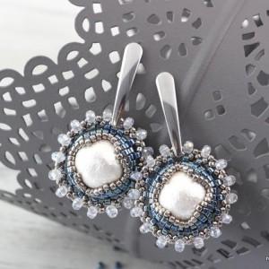 漂亮的串珠耳环教程-DIY简约时尚珍珠串珠耳环制作方法