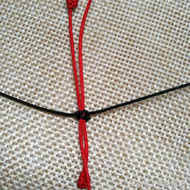 简单可调节长短的吊坠绳子编法!