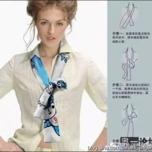 时尚丝巾系法全图解,短丝巾的18种系法