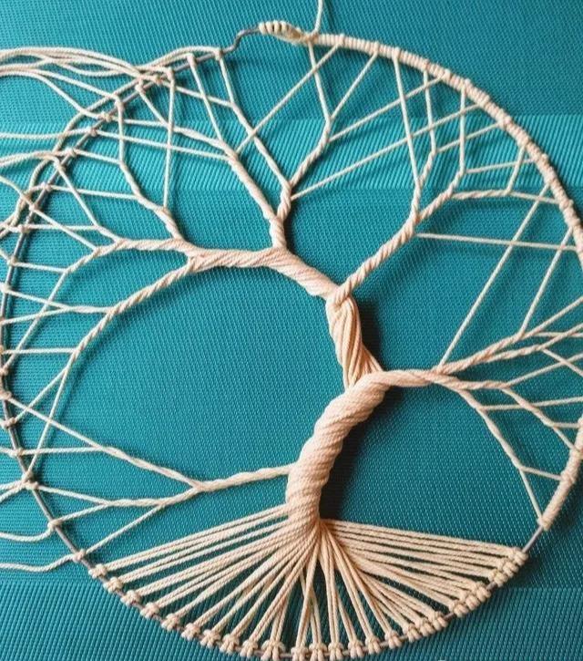 一根绳子都能编得如此高级,挂在家里墙上,想不美都难!附教程