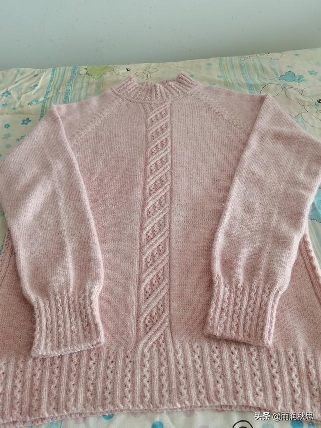 手工编织,从上往下织的,女士羊绒衫,图文教程
