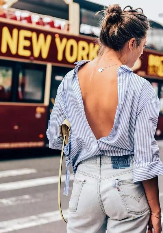 女式衬衫打结方法,教你明星衬衫打结怎么样好看