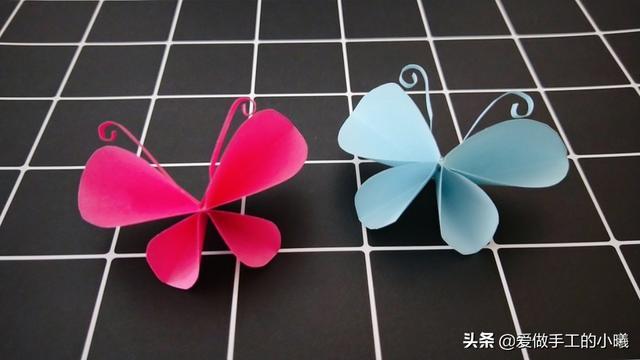 儿童趣味折纸,简单可爱的小蝴蝶图解教程,快来试试