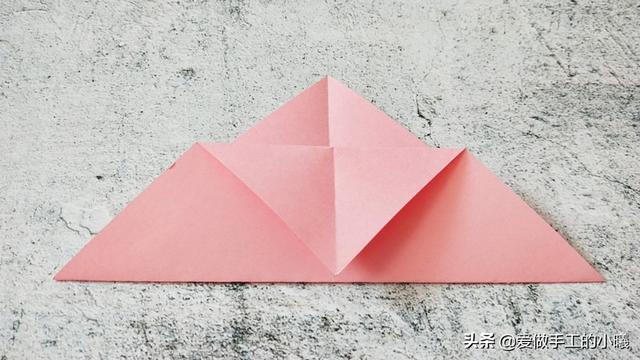 折纸教程:超可爱的西瓜书签,简单易学不废纸,还很实用