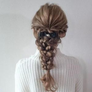 女神系编发教程步骤,优雅气质淑女编发发型