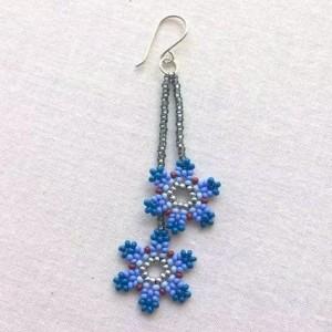 串珠耳环制作教程,详细的小花串珠耳环做法