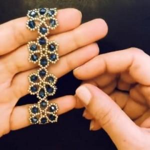 串珠手镯教程图解,简单串珠手工编织教程