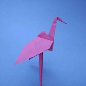 简单纸鹤的折法,幼儿园手工纸折千纸鹤步骤图解