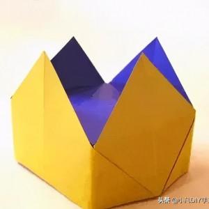折纸王冠的折法简单做法,折纸帽子的教程