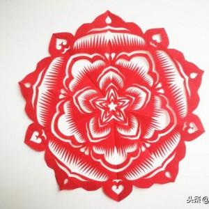 新春窗花图案剪纸,简单春节窗花剪法教程