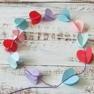 简单的折纸心教程,爱心挂饰手工制作
