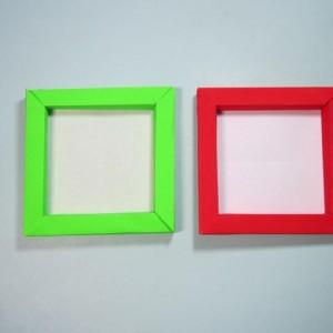 相框折纸的步骤图解,儿童正方形相框折纸制作方法