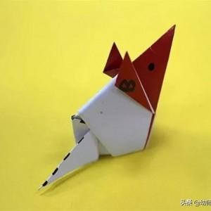 小老鼠折纸教程图解,简单儿童折纸教程步骤图
