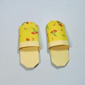 拖鞋折纸步骤图解,儿童手工折纸大全