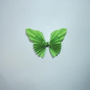 立体蝴蝶折纸步骤图解制作教程,简单儿童手工蝴蝶