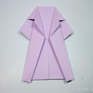 折纸风衣步骤图解,教大家如何折纸大衣