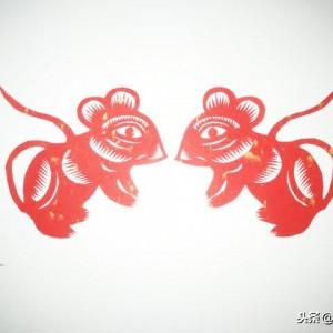 十二生肖鼠剪纸,老鼠的剪纸方法教程