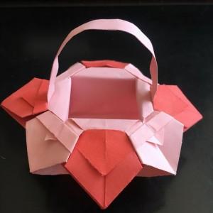 折纸篮子的步骤图解,简单又漂亮纸花篮