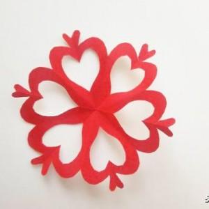 8个爱心窗花的剪法步骤,小学生爱心窗花剪纸