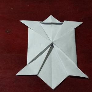 折纸乌龟的步骤图解,海龟折纸简单教程