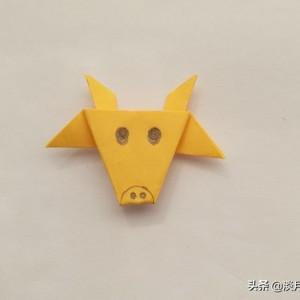 折纸牛头教程图解,教你如何折出一个牛头