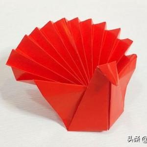 感恩节折纸火鸡简单折法图解教程