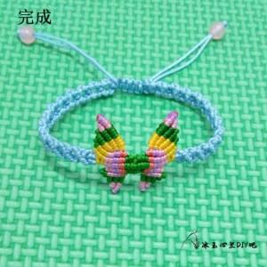 22种手链编织教程图解之一,蝴蝶手链编法