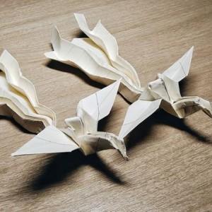 折纸凤凰详细折法步骤图片,教您手工折立体凤凰
