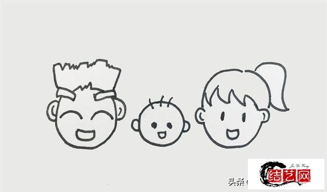 每天学一幅简笔画--一家人怎么画
