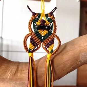 猫头鹰编织图解教程,中国结动物编绳教程