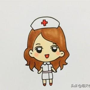 护士简笔画画法图解--怎么画护士简单又漂亮