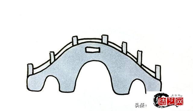 每天学一幅简笔画--小桥怎么画漂亮又简单