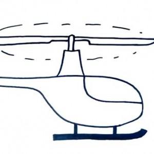 直升飞机简笔画步骤图片,教你军用直升飞机简笔画画法