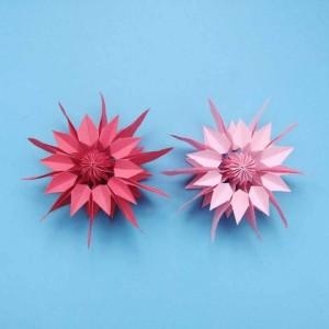 花朵折纸步骤图解,简单易学的立体花朵折法教程